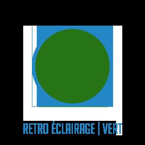 Couleur-retro-eclairage-vert