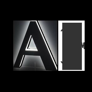 LETTRE-RETRO-ECLAIRAGE-40cm