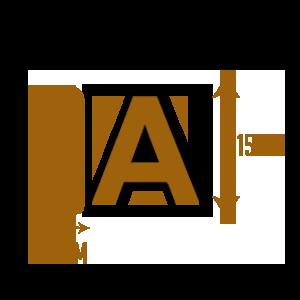 LETTRE-PVC-30mmX15cm